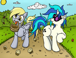 Derpy and Vinyl Colored (Collab w/ artponymdp!)