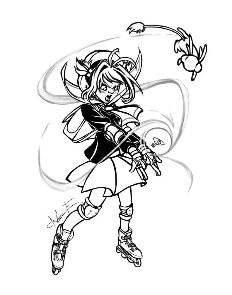 Sakura Cardcaptor releasing it by PictorIocus