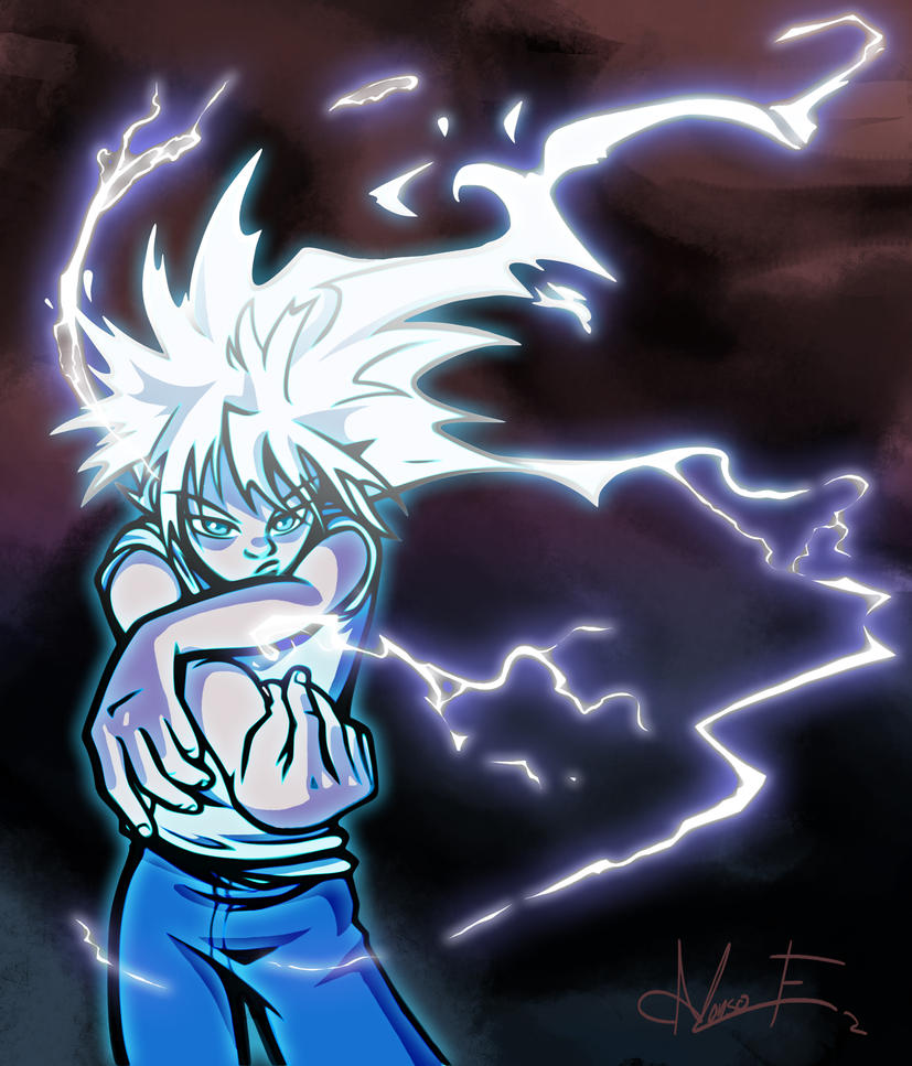 Killua Godspeed by PictorIocus