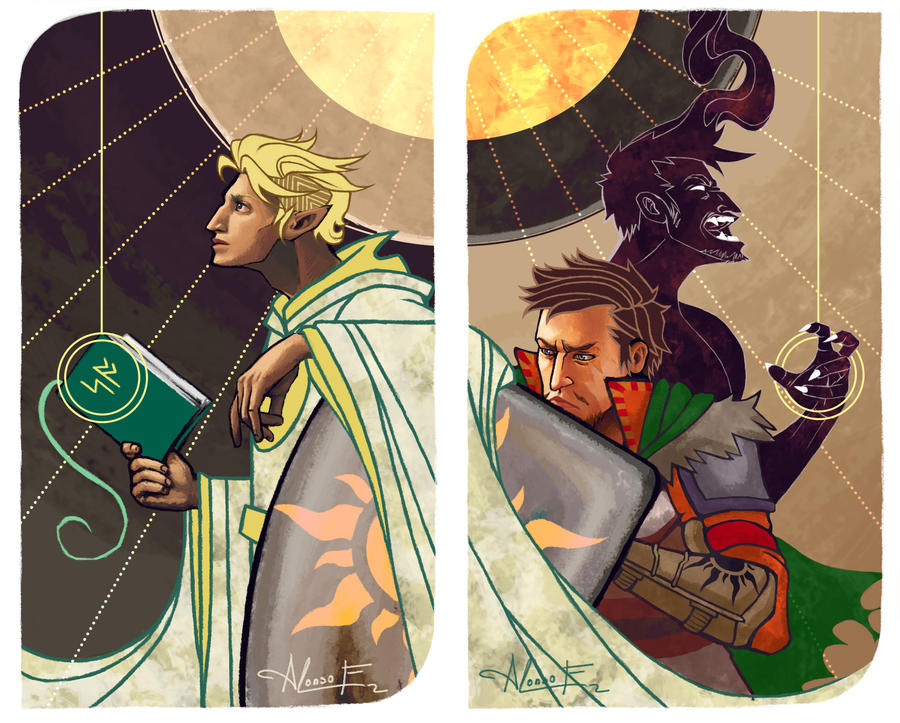 Tarot Card Commissions #3 and #4 Composition by PictorIocus