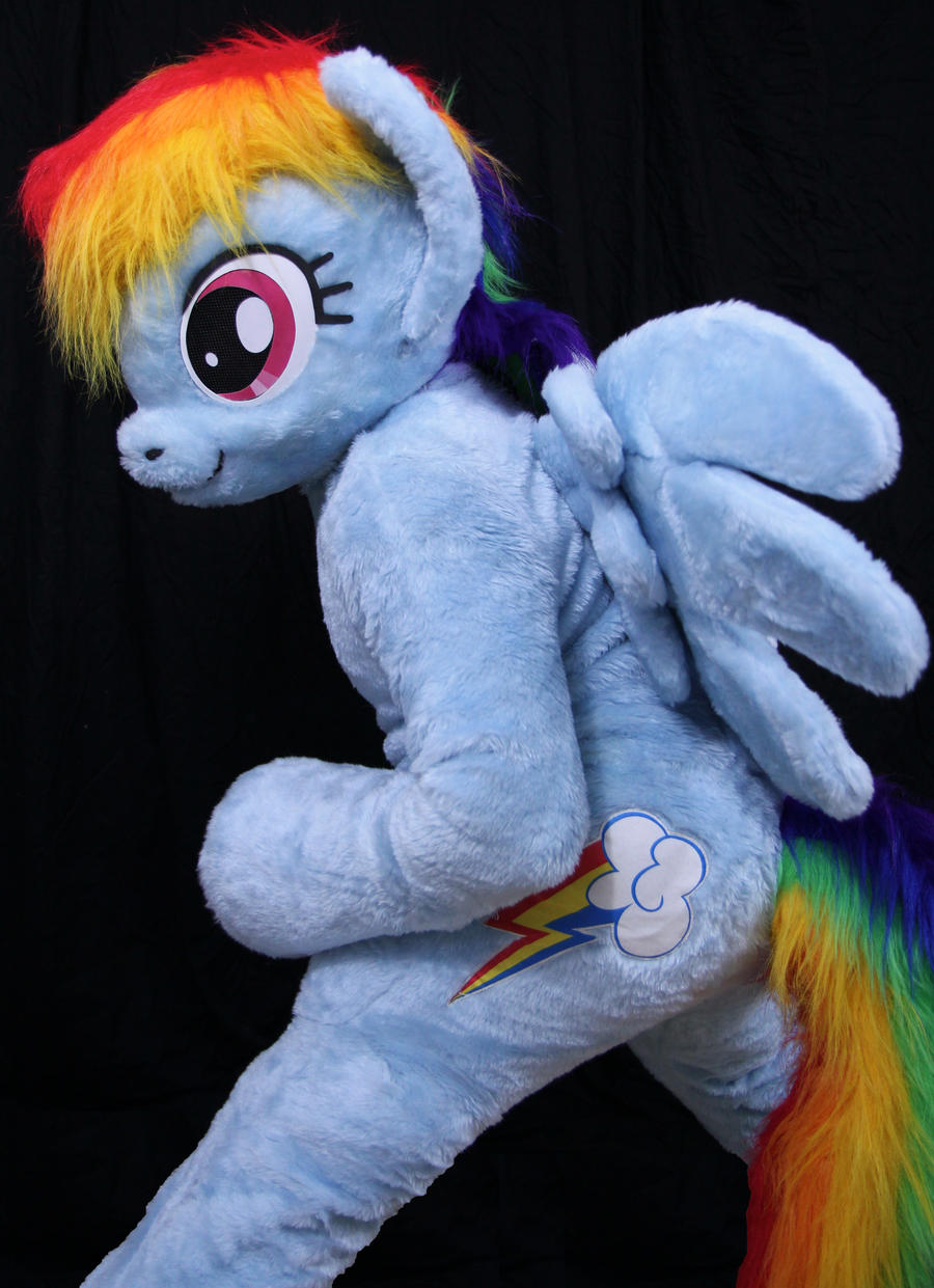 Spottacus in Rainbow Dash (fursuit by Atalon) by SpottacusCheetah