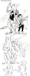 Traditionally drawn sketches (Wildehopps-inter.s) by Spintherella
