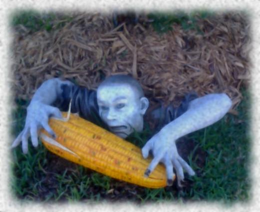 Thanksgiving Zombie - Graaaaaaains! by katsanger
