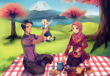 Commission Category E: Family Picnic