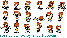 Elise the Hedgehog Sprites by zorathemouse