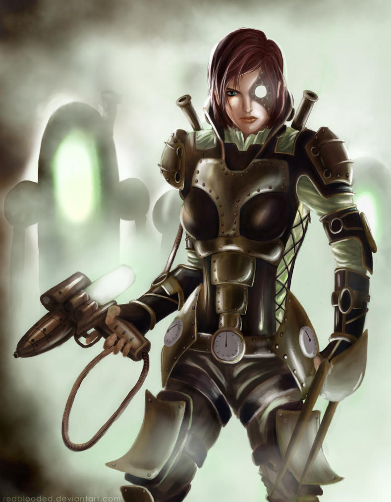 SteamPunk Effect: FemShepard by redpoenya
