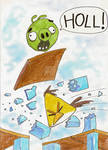 Angry Birds: Green Pig falling