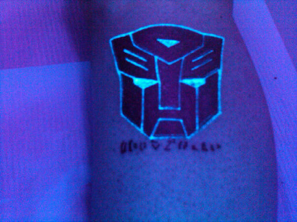 Blacklight Autobot Tattoo by ShinigamisPet
