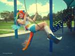 Rainbow Dash Swinging