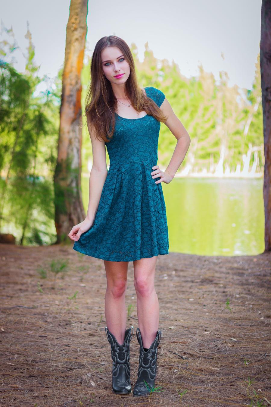Blue Dress by MeganCoffey