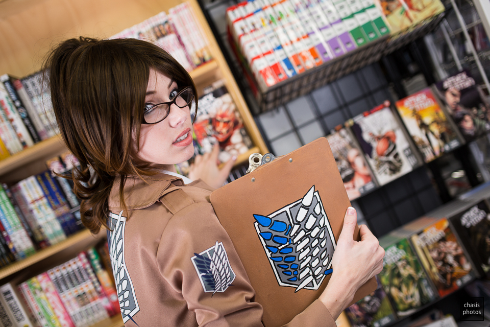 Hanji's Library by MeganCoffey