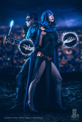 Nightwing and Raven