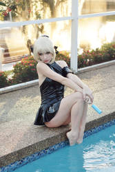 Swimsuit Saber Alter IX by MeganCoffey