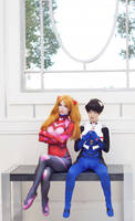 Katsucon - Asuka and Shinji by MeganCoffey