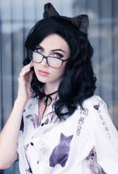 Glasses Kitty II by MeganCoffey