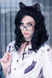 Glasses Kitty V by MeganCoffey