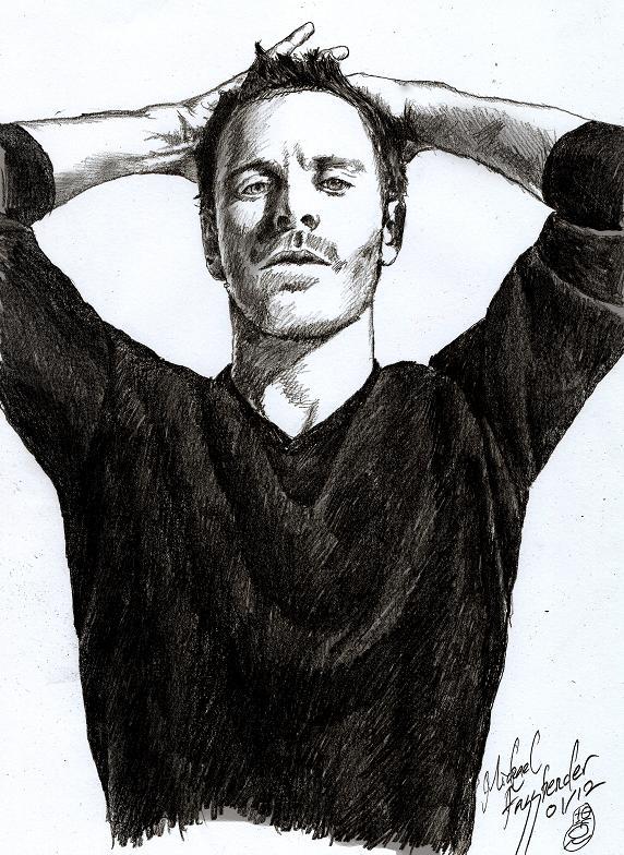 Sketch - Michael Fassbender II by tankgirly