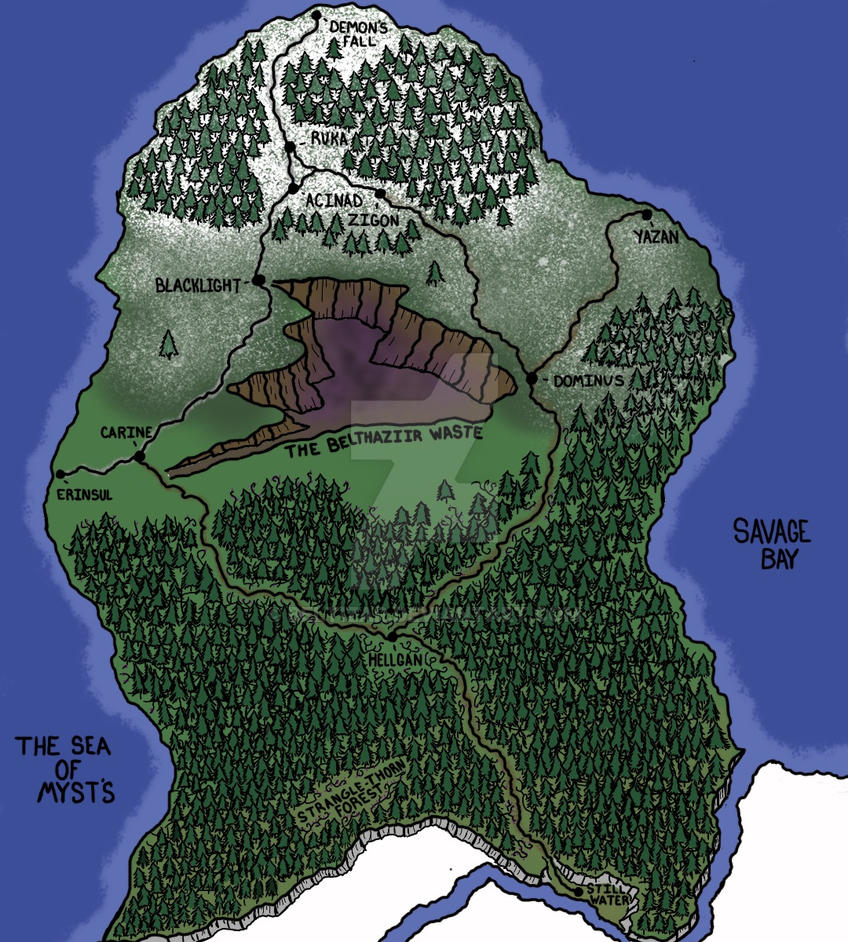 The Strangle Thorn Peninsula. (Map Updated) by Beltizar