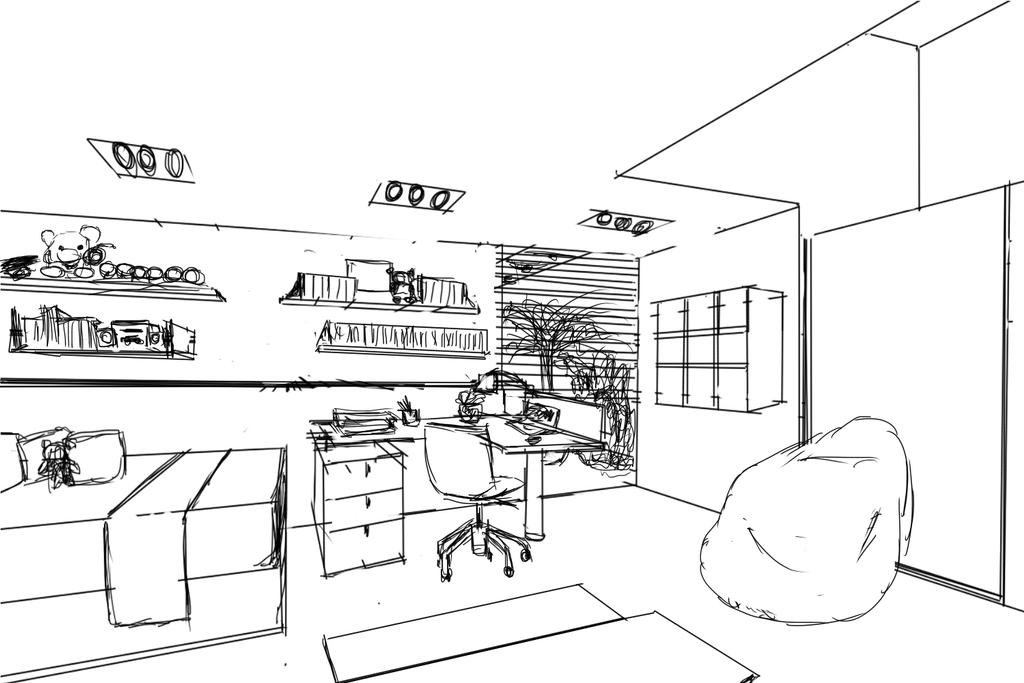 Another Room Sketch By Gaixas1 On DeviantArt
