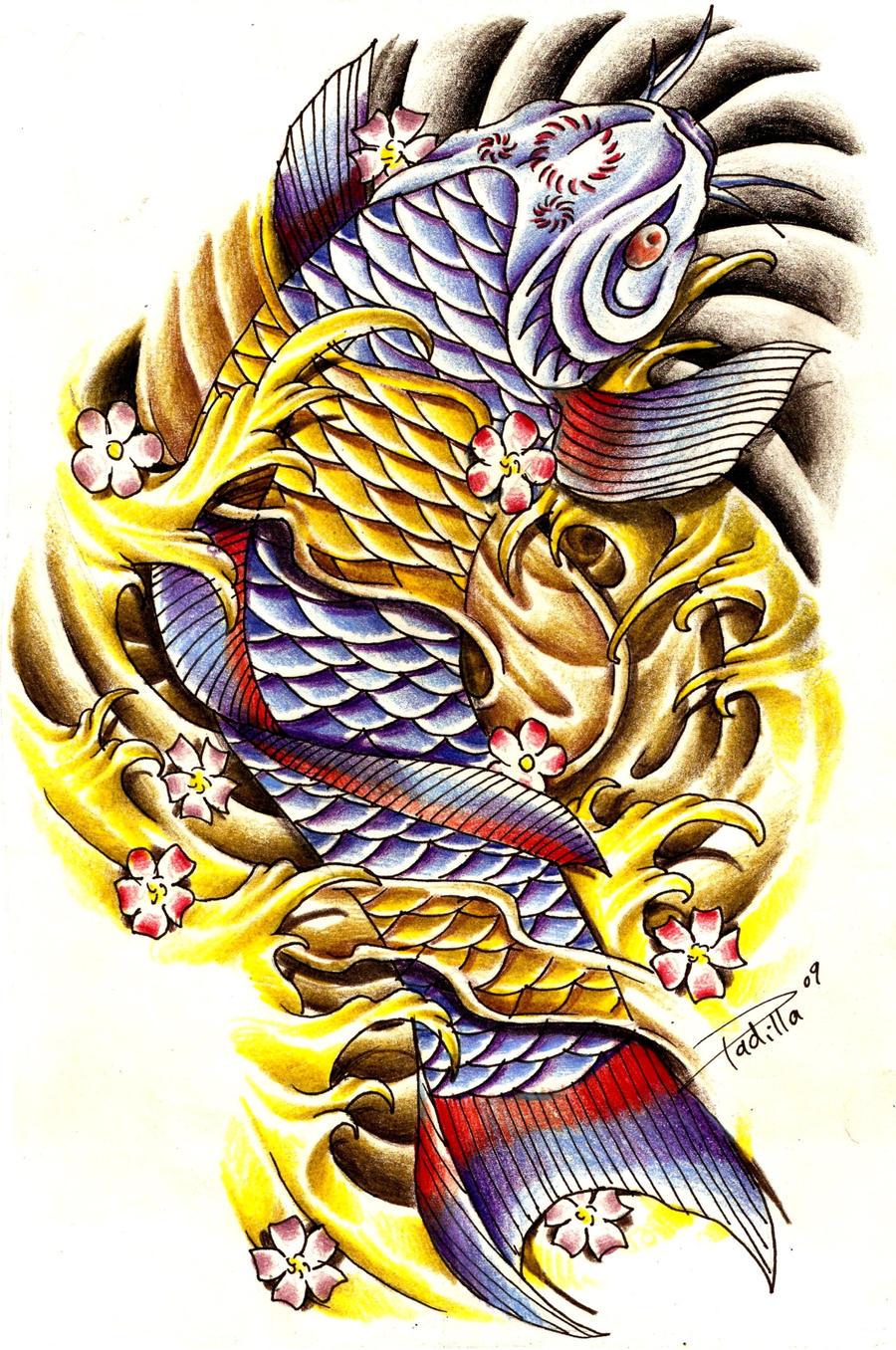 koi fish tattoo miami ink