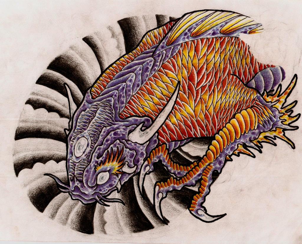koi dragon iii by eltri on deviantart
