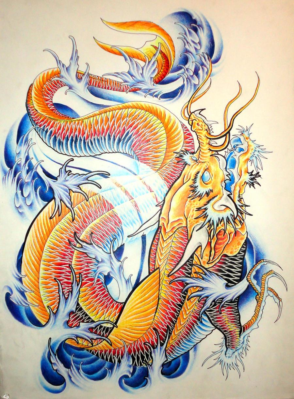 Koi dragon project l by eltri on deviantart for Japanese koi dragon