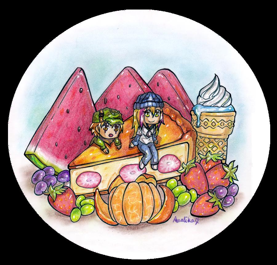 Fruity Cheesecake :: Gift by Amalika