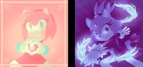Color scheme challenges - Amy and Blaze