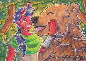 ACEO #55 - Kalech and Buddy