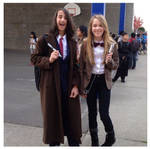 Me and my friend Nick's Doctor Who cosplays