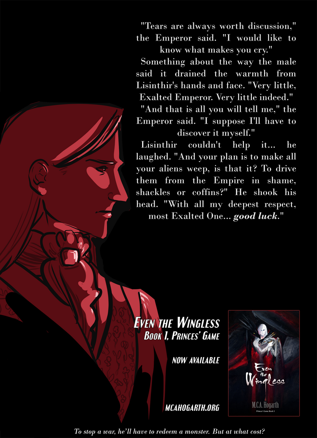 Teaser for the Novel Even the Wingless by mcah