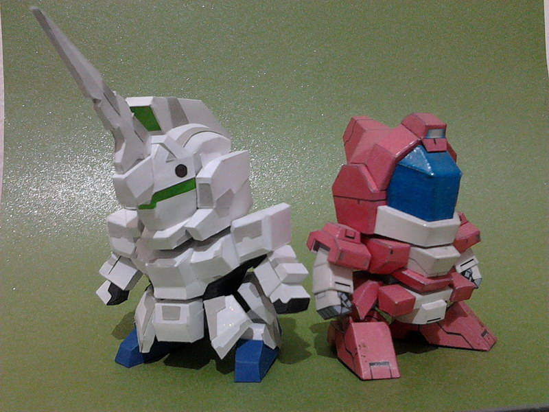 5cm Sd Unicorn Gundam Ver Art