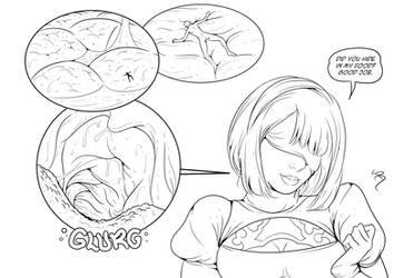 Inside 2B`s mouth by SmushedBoy
