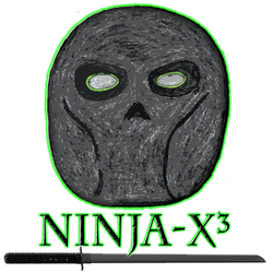 Ninja-X Hand Drawn Mask Logo