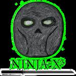 Ninja-X Hand Drawn Mask Logo