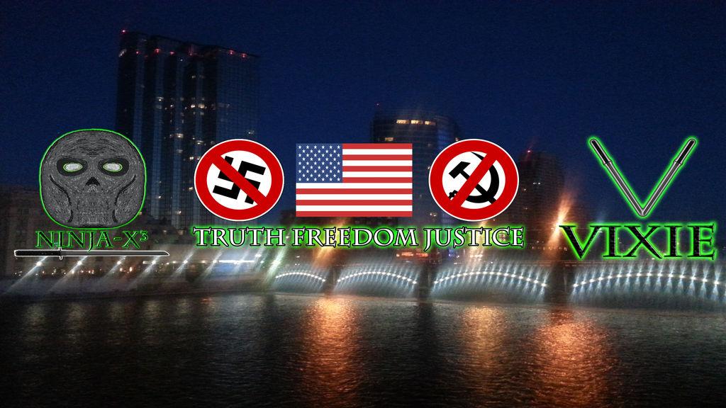 Ninja-X and Vixie Anti-Hate Pro-America Banner