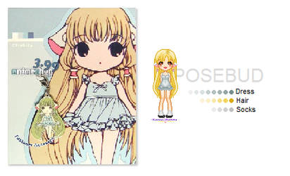 Chii, Chobits - pixel by Posebud