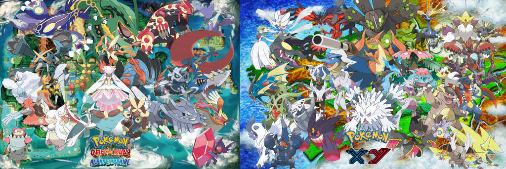Pokemon Mega Evolution By Ryokia96