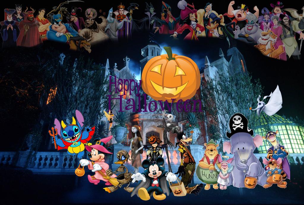 Disney happy halloween by ryokia96 on deviantart - Disney halloween images ...