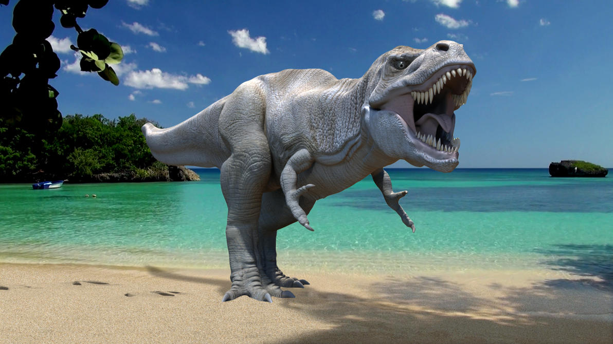 Trex At The Beach by joel3d