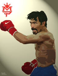 Manny 'Pacman' Pacquiao Vector by markmeART