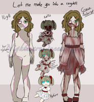 Creepypasta oc RagDoll Ref sheet by NightmareQueenKasei