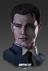 Detroit Become Human   Connor by lBlacKiE-MaiDeNl