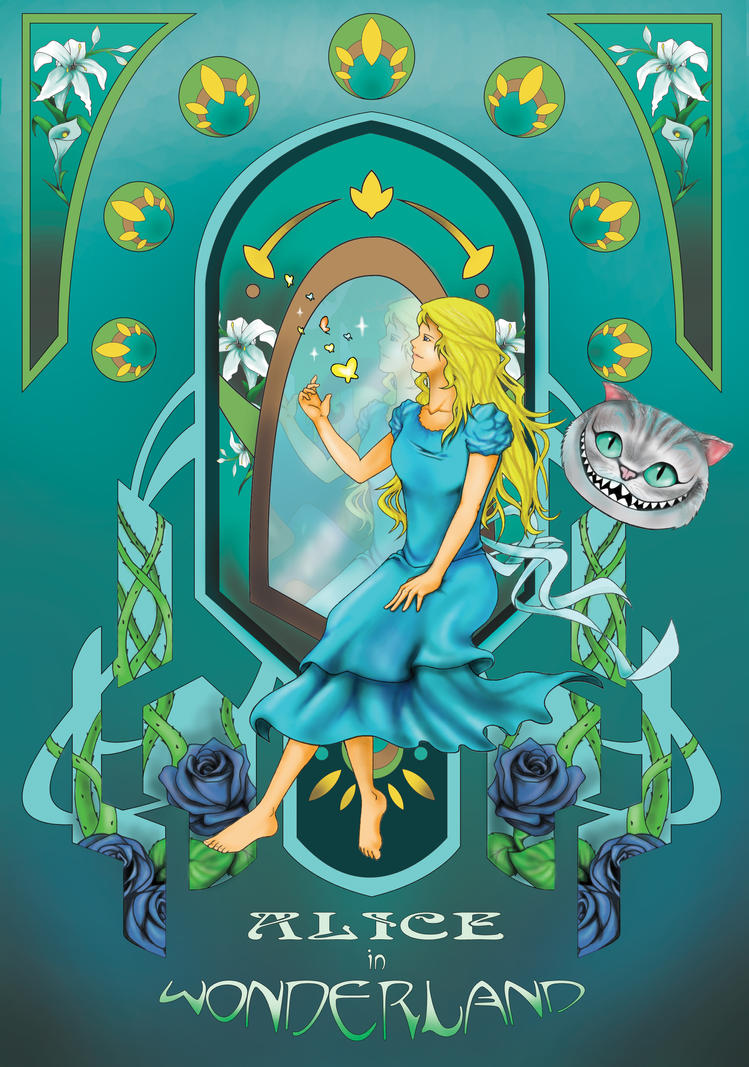 Alice in wonderland art nouveau by valentki on deviantart Alice and wonderland art projects