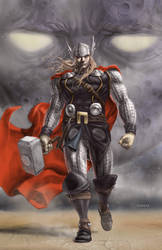Astonishing Thor 5 cover by MichaelChoiArt