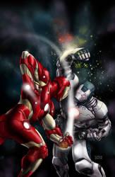 Iron Man 2.0 50th Ann. Variant by MichaelChoiArt