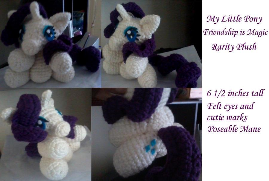 Free Crochet Pattern For My Little Pony Eyes : Amigurumi Rarity Plush -My Little Pony- by CrashNebulissa ...