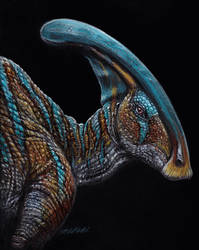 Parasaurolophus - Commission by LittleFoxStudio