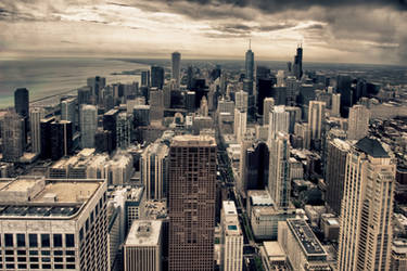 Chicago from the Hancock Tower by arnaudperret