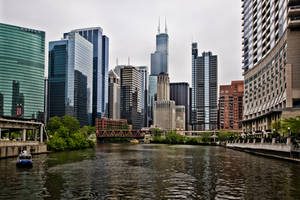 Chicago from the Chicago river by arnaudperret